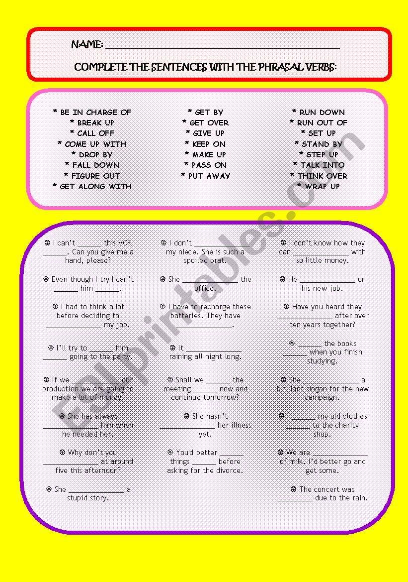 Exercises - Phrasal Verbs [3/3]